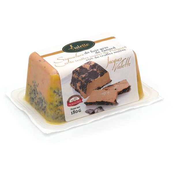 Valette Signature de foie gras entier mi-cuit et de truffes noires du Périgord (10% de truffes noires) - Barquette 180g (4 à 5 parts)