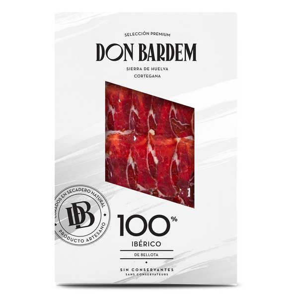 Don Bardem Jambon Bellota tranché 100% Ibérique - Tranches sous-vide 80g