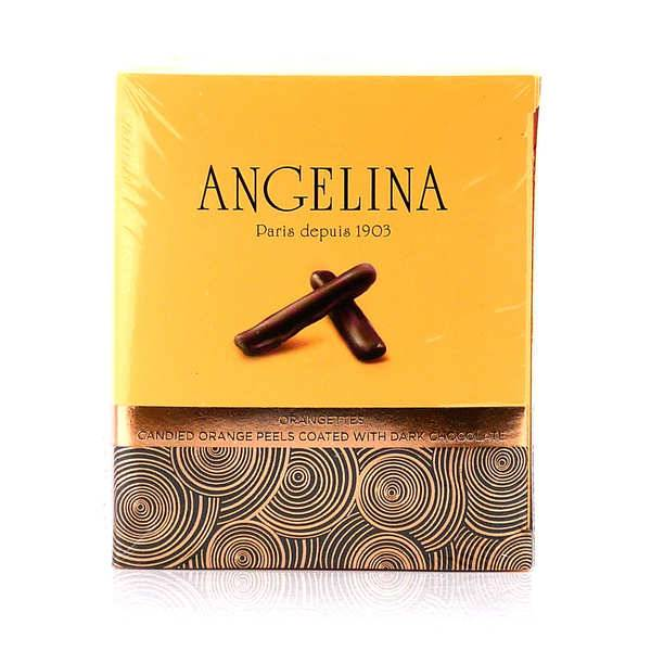 Angelina Paris Orangettes Angelina Paris - Ecorces d'orange confites au chocolat noir - Boite de 100g