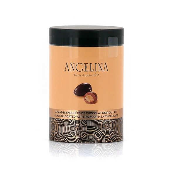 Angelina Paris Amandes enrobées de chocolat noir et lait - Angelina Paris - La boite de 140g