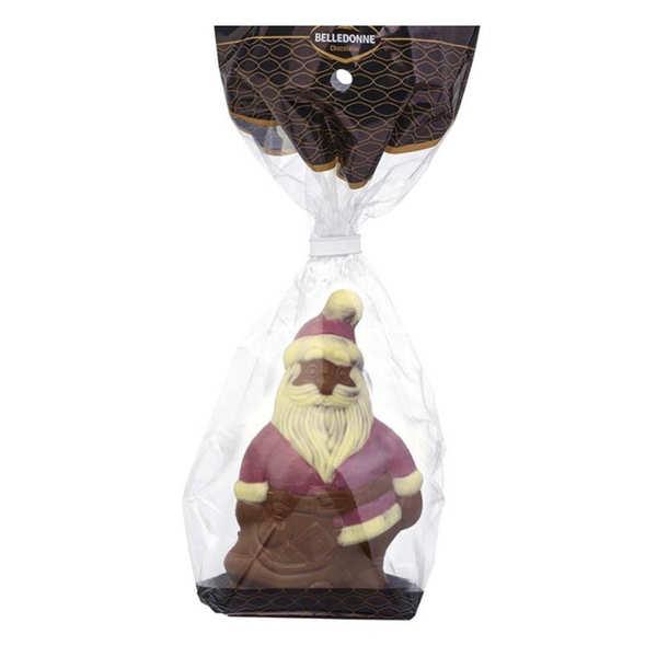 Belledonne Chocolatier Moulage du père Noel en chocolat au lait bio - Moulage 100g