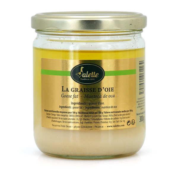 Valette Graisse d'oie - Bocal verre 300g