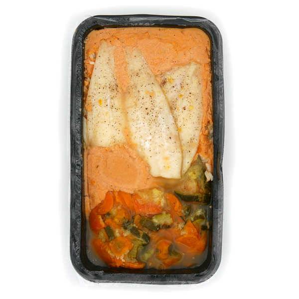 Viaule Traiteur Filet de limande à la sauce normande et son riz - Plat traiteur artisanal frais - La barquette de 550g (1 à 2 parts)