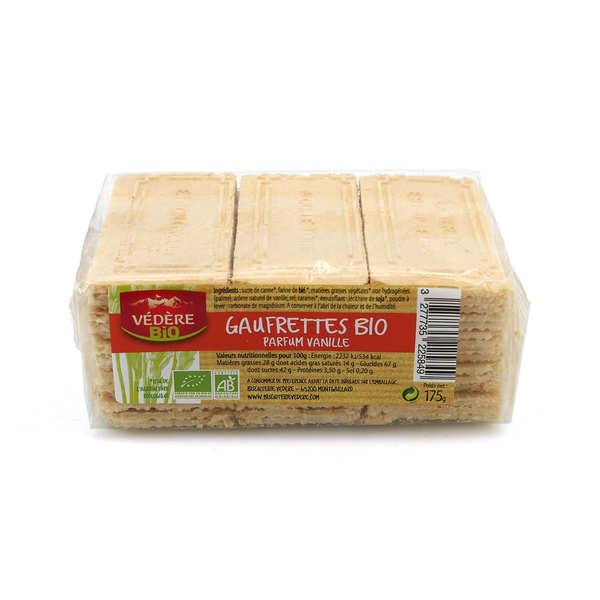 Biscuiterie Védère Gaufrettes bio parfumées à la vanille - Paquet de 175g