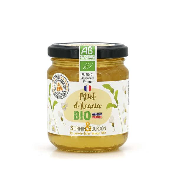 Sornin&Bourdon Miel d'acacia bio de France - Lot de 3 pots 250g