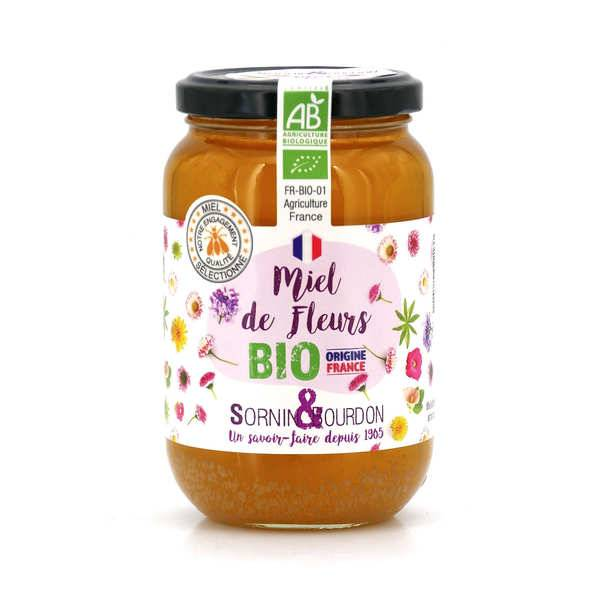 Sornin&Bourdon Miel de fleurs bio de France - Pot 500g