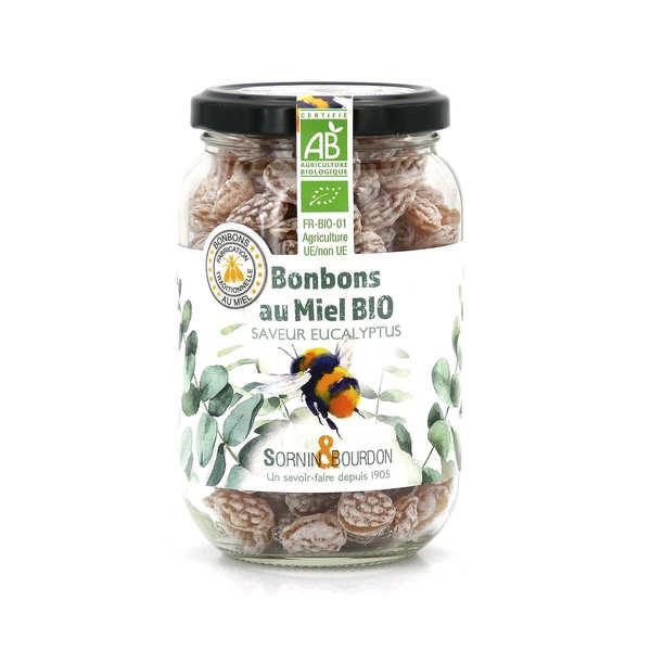 Sornin&Bourdon Bonbons au miel et eucalyptus bio - Pot 250g