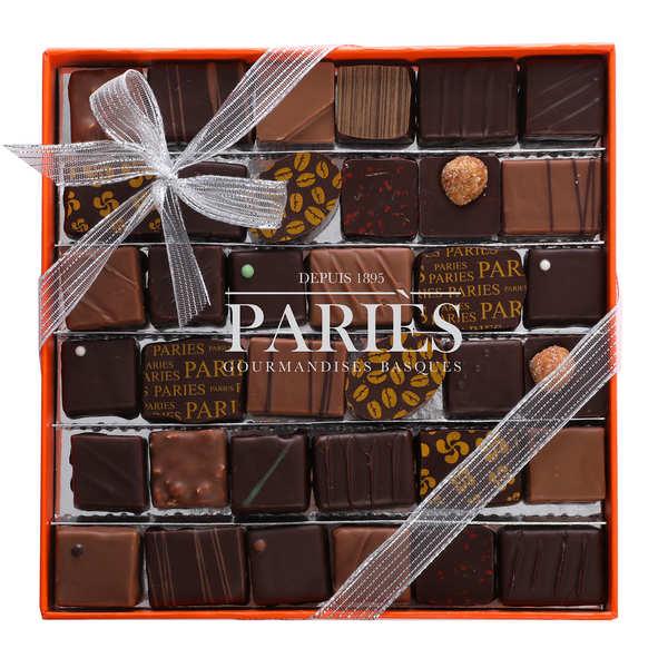 Maison Pariès Coffret Elégance - 36 chocolats frais Pariès - Boite de 310g de chocolats