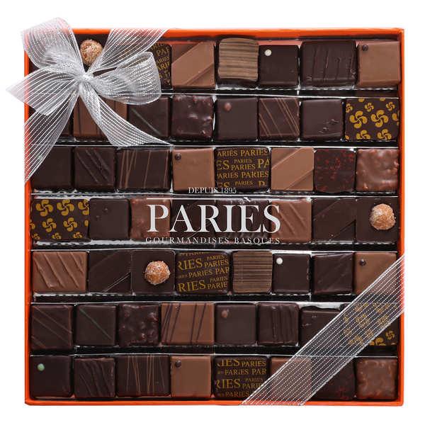 Maison Pariès Coffret Elégance - 57 chocolats frais Pariès - Boite de 460g de chocolats