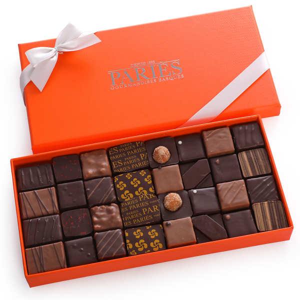 Maison Pariès Coffret Paries de 30 chocolats ganaches frais - 3 boites (250g chacune)