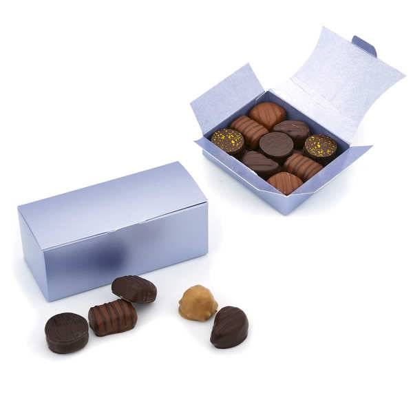 BienManger.com Ballotin assortiment de chocolats noirs et lait - Le ballotin de 90g