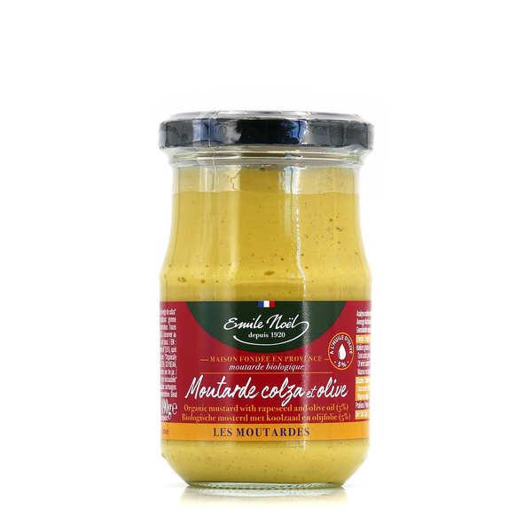 Emile Noël Moutarde mi-forte bio à l'huile de colza et d'olive - Emile Noel - Pot 190g
