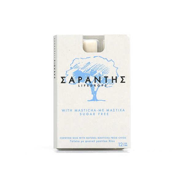 Sarantis Chewing-gum au Mastic de Chios - sans sucres - 10 tablettes (120 gommes)