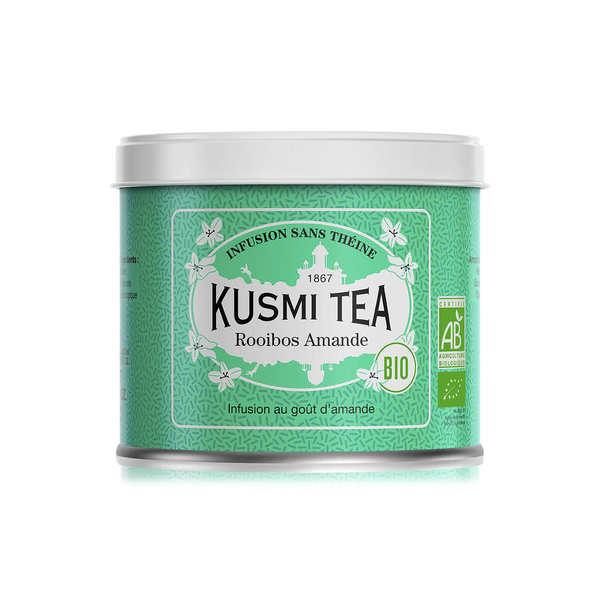 Kusmi Tea Rooibos amande bio - Boite vrac en métal - Boîte en métal de 100g