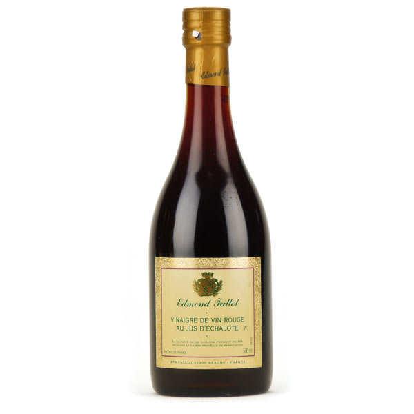 Fallot Vinaigre de vin rouge au jus d'échalote - Bouteille verre 500ml