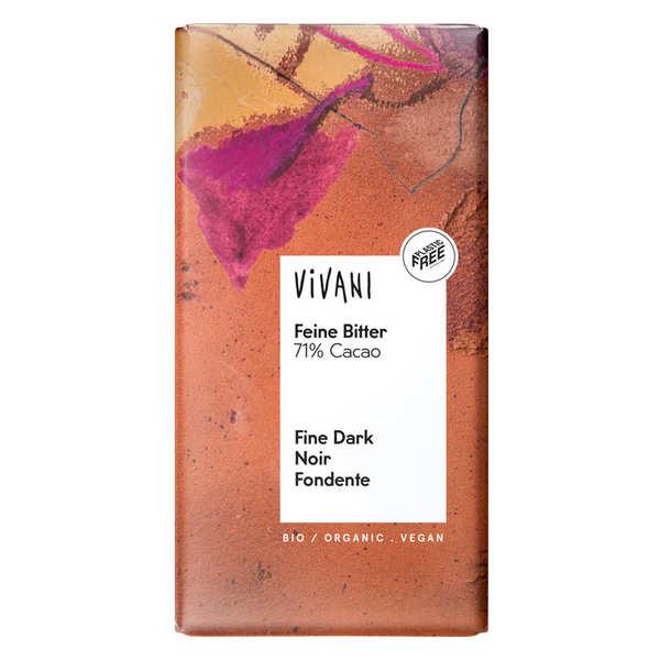Vivani Chocolat noir bio et vegan 71% de cacao - Vivani - 3 tablettes de 100g
