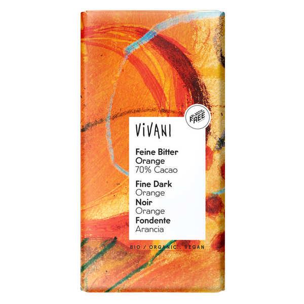 Vivani Chocolat noir à l'orange bio et vegan 70% de cacao - Vivani - Tablette 100g