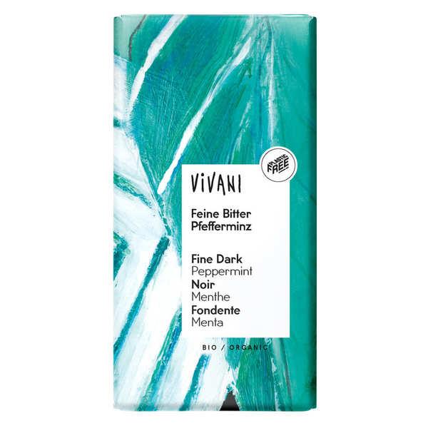 Vivani Chocolat noir bio à la menthe 67% cacao - Vivani - 3 tablettes de 100g