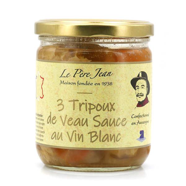 Le Père Jean Tripoux d'Auvergne cuisinés au vin blanc - Bocal 400g (3 tripoux)
