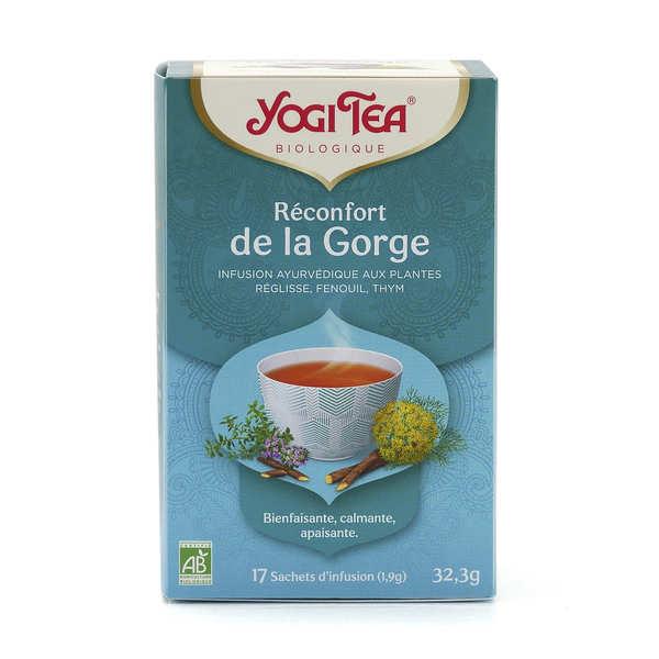 Yogi Tea Infusion bio Réconfort de la Gorge - Yogi Tea - 5 boites de 17 sachets