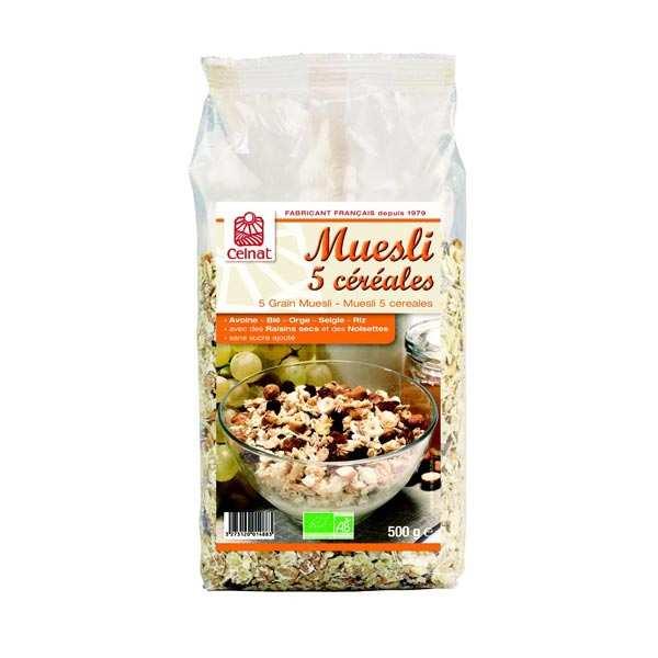 Celnat Muesli 5 céréales bio - Lot 3 sachets de 500g