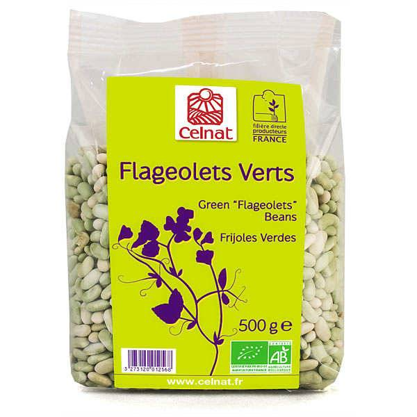 Celnat Flageolets verts bio - Sachet 500g