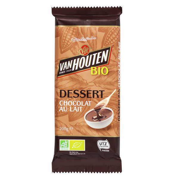 Van Houten Tablette de chocolat au lait dessert bio - Van Houten - 3 tablettes de 200g