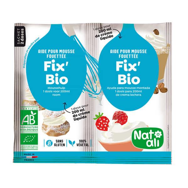 Nat-Ali Chantibio - aide culinaire bio pour crème chantilly - 2x8g