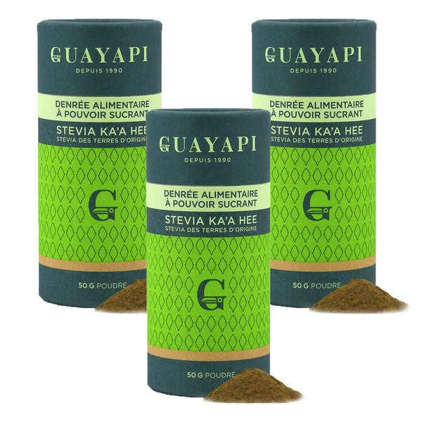 Guayapi Tropical Stevia en poudre verte - Offre Spéciale 3 boites - Lot 3 boites de 50g de stevia
