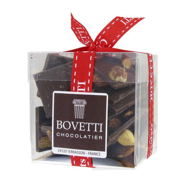 Bovetti chocolats Mendiants au chocolat noir - 3 boites de 200g
