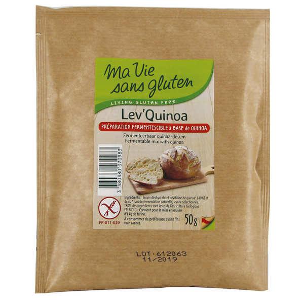 Ma vie sans gluten Lev'Quinoa fermentescible pour pain sans gluten - Lot de 6 sachets de 50g