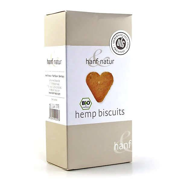 Hanf Natur Biscuits bio aux graines et à la farine de chanvre - Boîte 100g