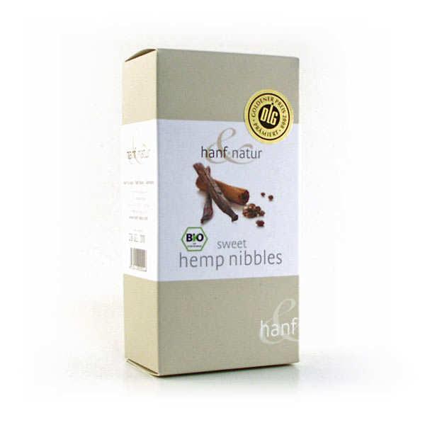 Hanf Natur Graines de chanvre grillées bio - vanille et cannelle - Boîte 100g