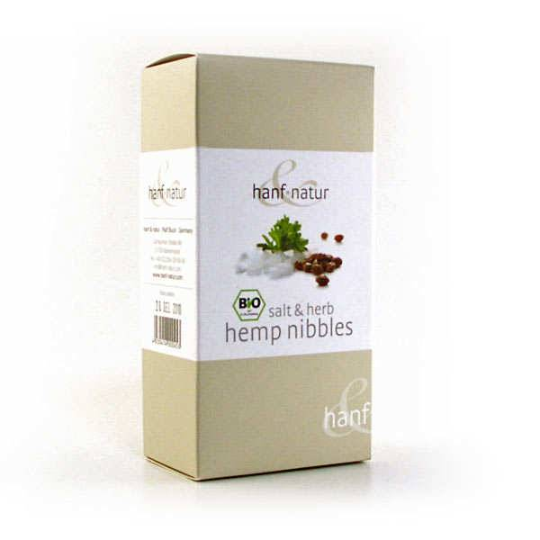 Hanf Natur Graines de chanvre grillées bio - sel et herbes - 3 boites de 100g