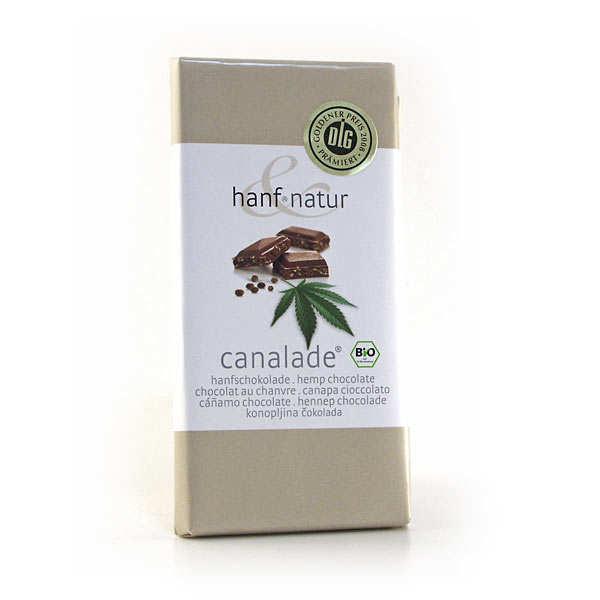 Hanf Natur Chocolat au lait aux graines de chanvre bio - Tablette 100g