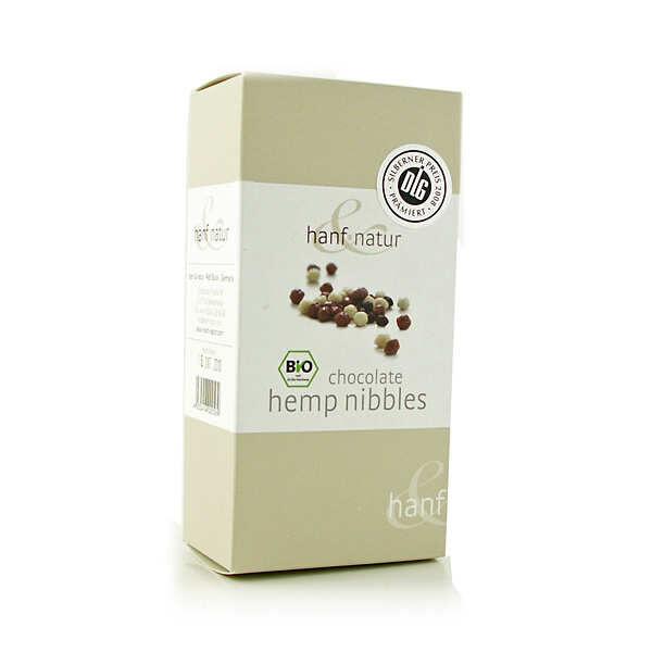 Hanf Natur Billes de chocolat au chanvre bio - Boîte 100g