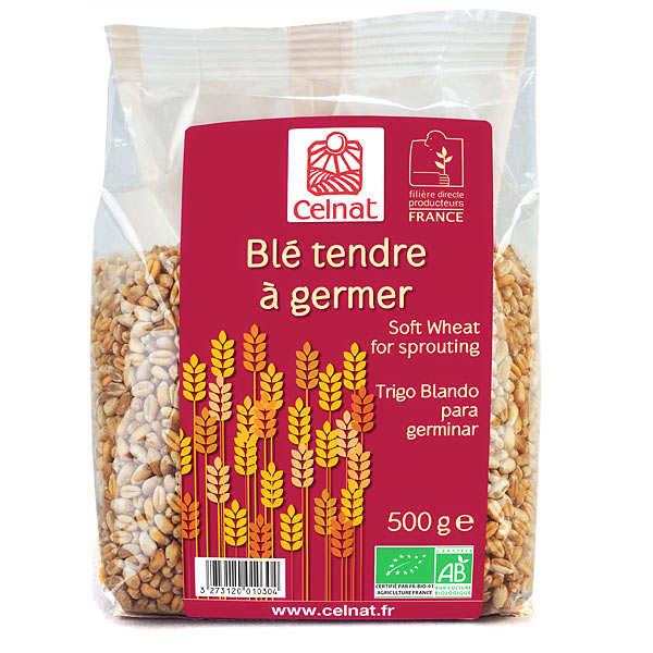 Celnat Blé tendre à germer bio - Lot 4 sachets de 500g