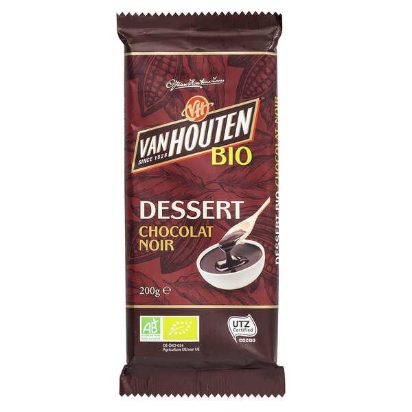 Van Houten Tablette de chocolat noir dessert bio - Van Houten - Tablette de 200g