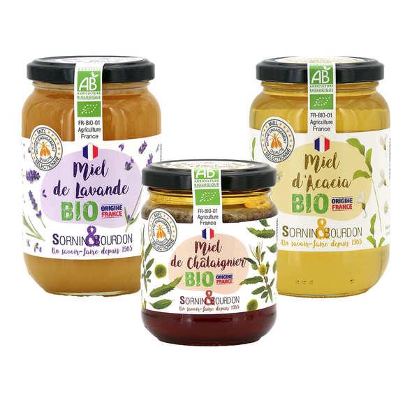 Sornin&Bourdon Assortiment de miels pour avoir la forme - Assortiment de miels pour avoir la forme