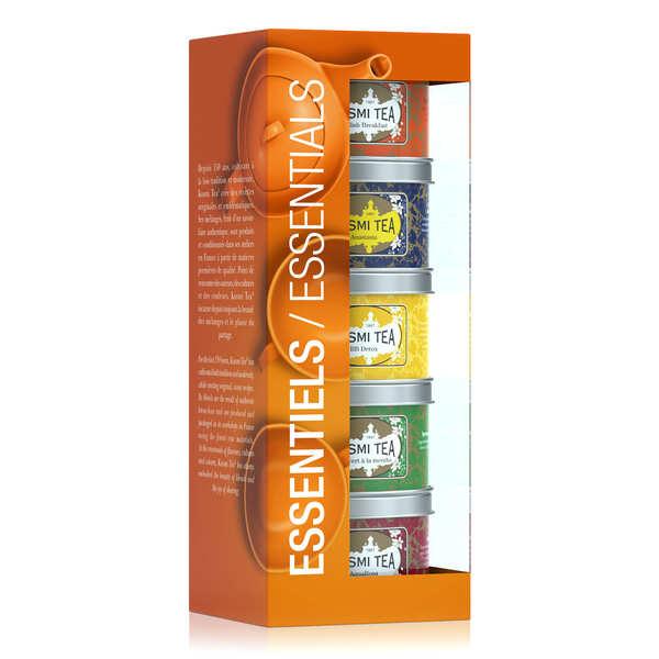 Kusmi Tea Coffret Les Essentiels Kusmi Tea en vrac - Le coffret de 5 boites (125g - 5x25g)