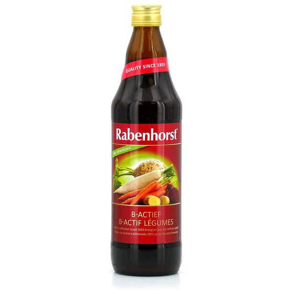 Rabenhorst Pur jus de légumes B-Actif lacto-fermentés bio - 3 bouteilles de 75cl