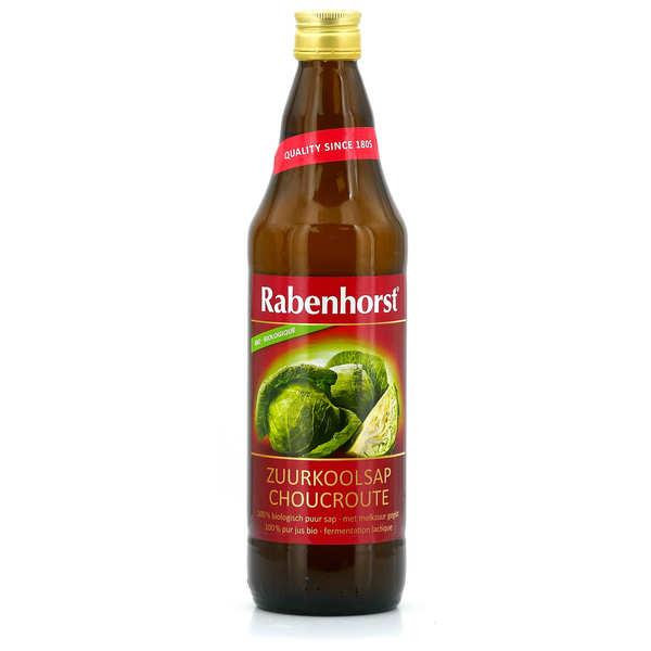 Rabenhorst Pur jus de choucroute bio lactofermenté - Bouteille verre 75cl