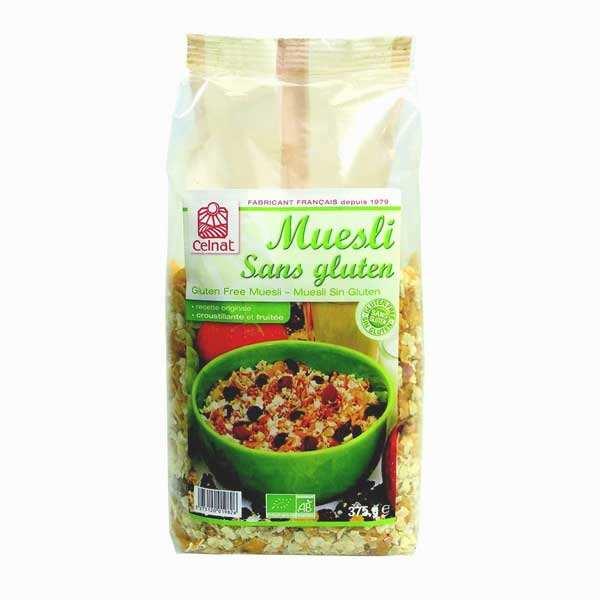 Celnat Muesli sans gluten bio - Lot 3 sachets de 375g
