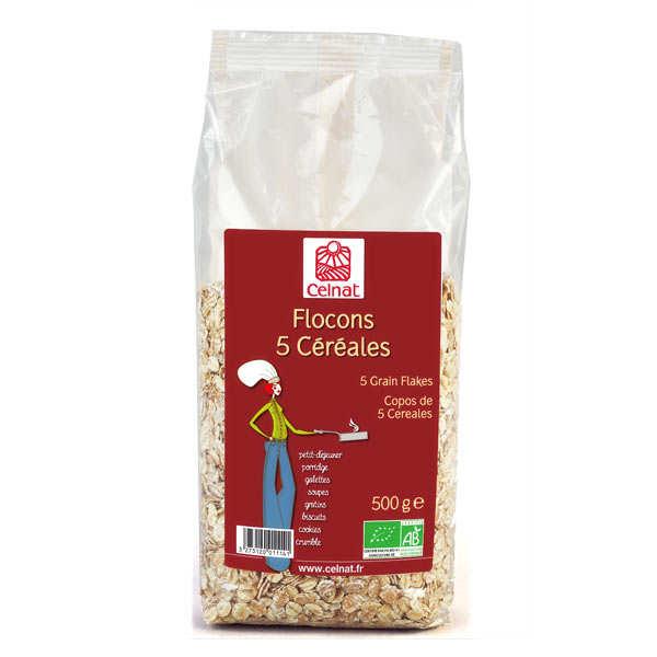 Celnat Flocons 5 céréales bio - 5 sachets de 500g
