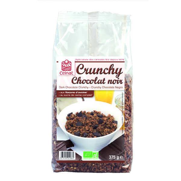 Celnat Crunchy au chocolat noir bio - 3 sachets de 500g