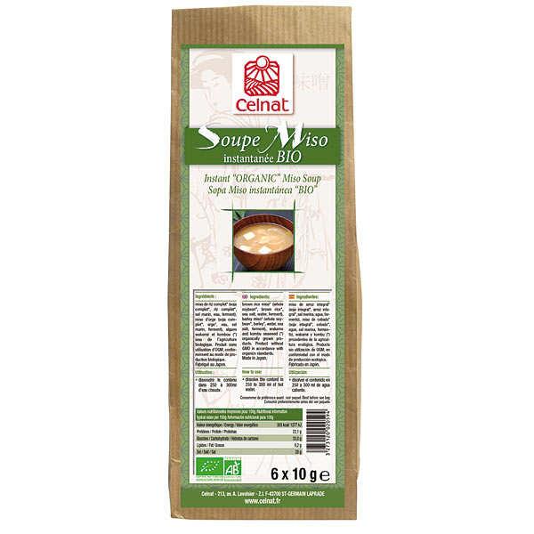 Celnat Soupe Miso instantanée bio - Boite 6 sachets (60g)