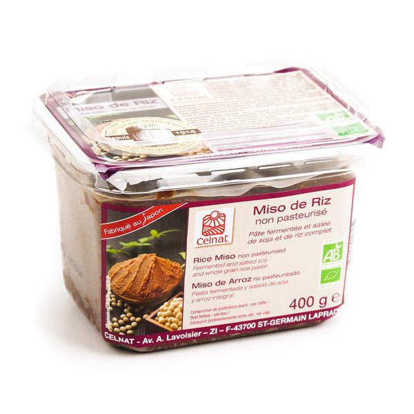 Celnat Miso de riz non pasteurisé bio - Boîte400g