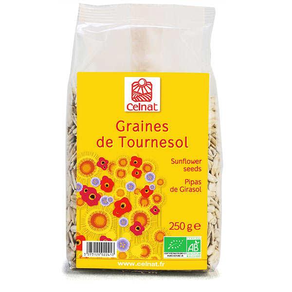 Celnat Graines de tournesol décortiquées bio - Lot de 4 x 250g