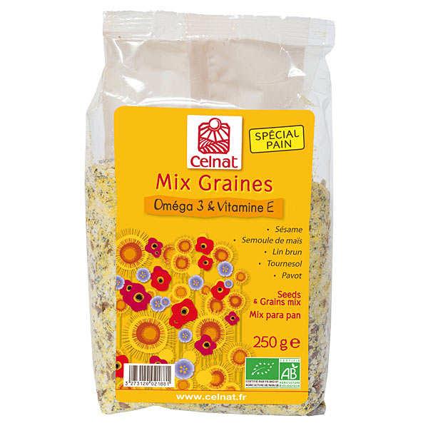 Celnat Mix graines bio - Oméga 3 & vitamine E - Sachet 250g