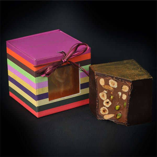Chocolats François Pralus Cubissime - Le cube en chocolat par François Pralus - Cube 450g